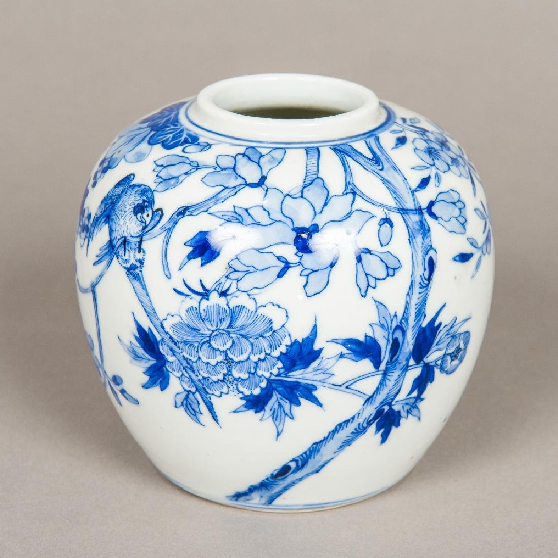 A 19th century Chinese blue and white ginger jar and - 2
