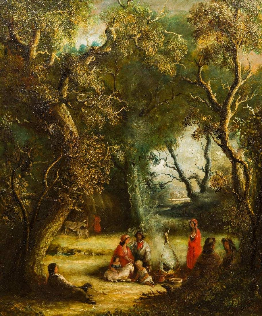ENGLISH SCHOOL (19th century) Gypsy Encampment in a
