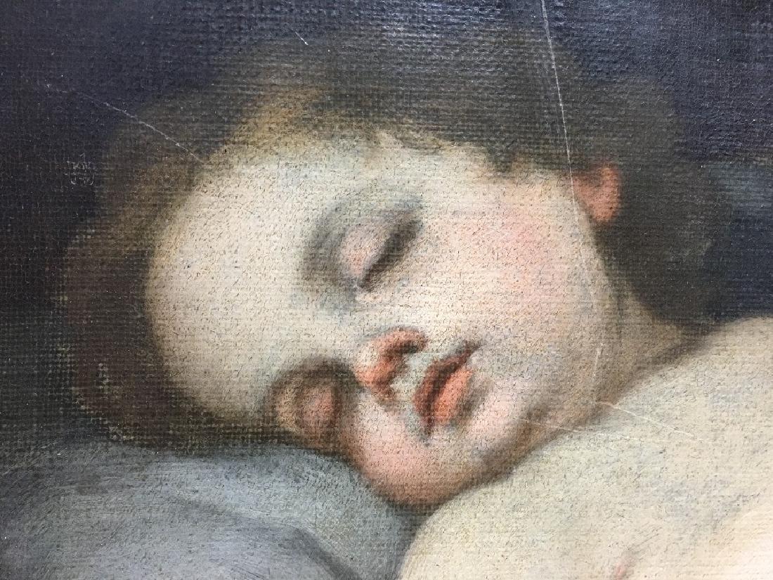 ITALIAN SCHOOL (18th/19th century)  Sleeping Putto Oil - 8