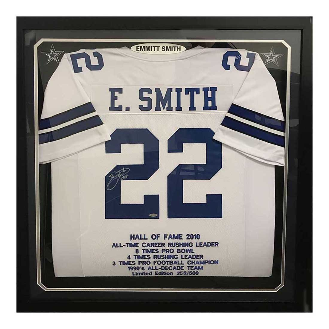 Emmitt Smith Autographed Jersey