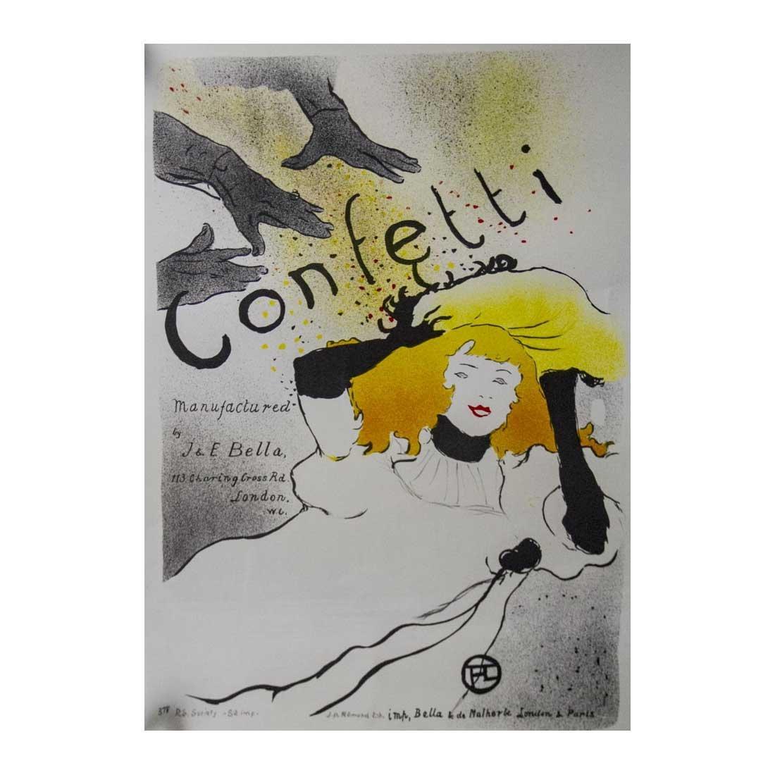 Henri Lautrec Confetti Poster