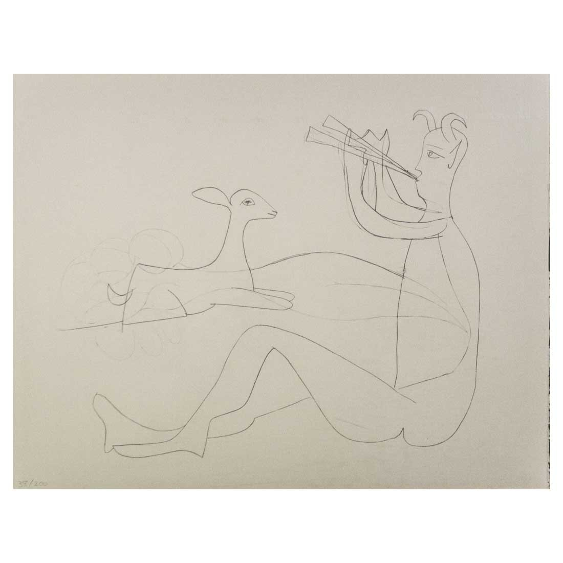 Picasso - Untitled from Mes dessins d'antibes