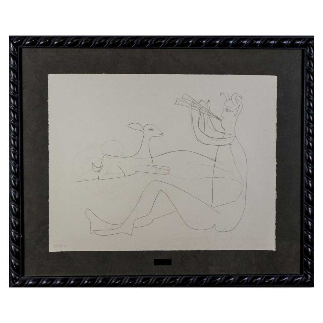 Picasso - Untitled from Mes dessins d'antibes - 2