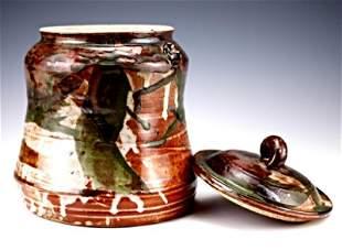 John Glick Plum Tree Pottery Lidded Jar