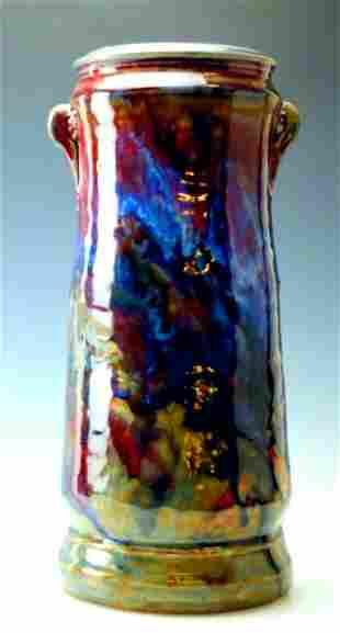 """John Glick Large 13"""" Plumtree Pottery Vase"""