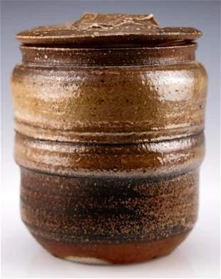 Vintage Karen Karnes Stoneware Lidded Jar