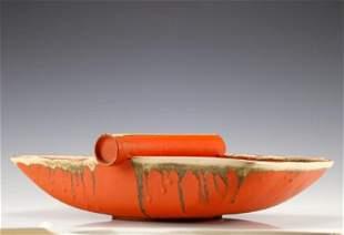 Mid-Century Modern Art Pottery Serving Dish