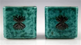 Gustavsberg Argenta Pottery Diminutive Vase Set