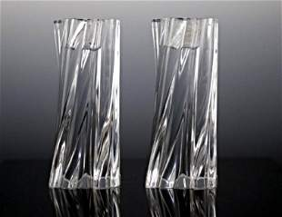 Baccarat Crystal Candle Stick Set