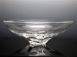 "Large 10"" Steuben Crystal  Serving Bowl; Rare"