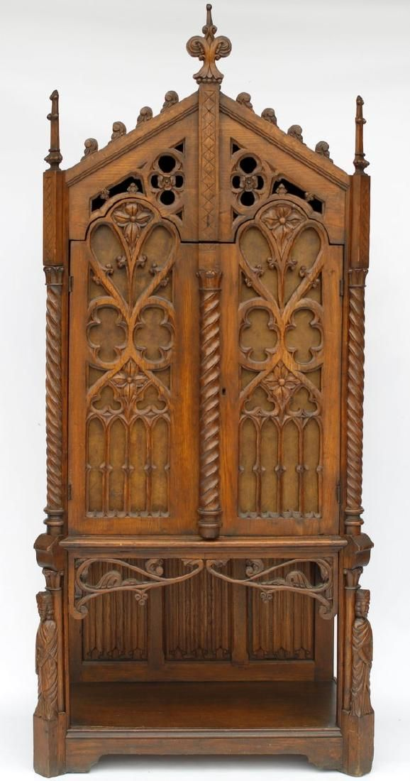 Gothic Revival Cathedral Cabinet