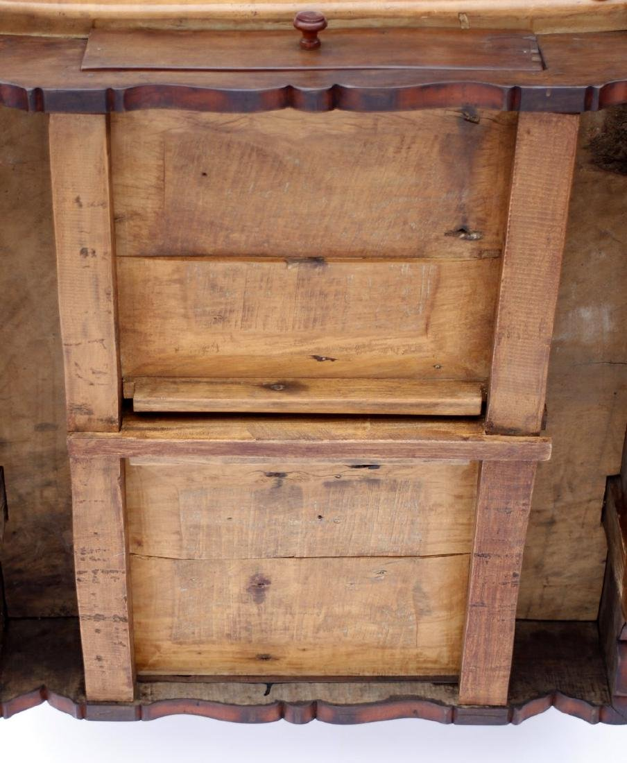 Antique Solid Wood Chess Game Table + Chairs - 7