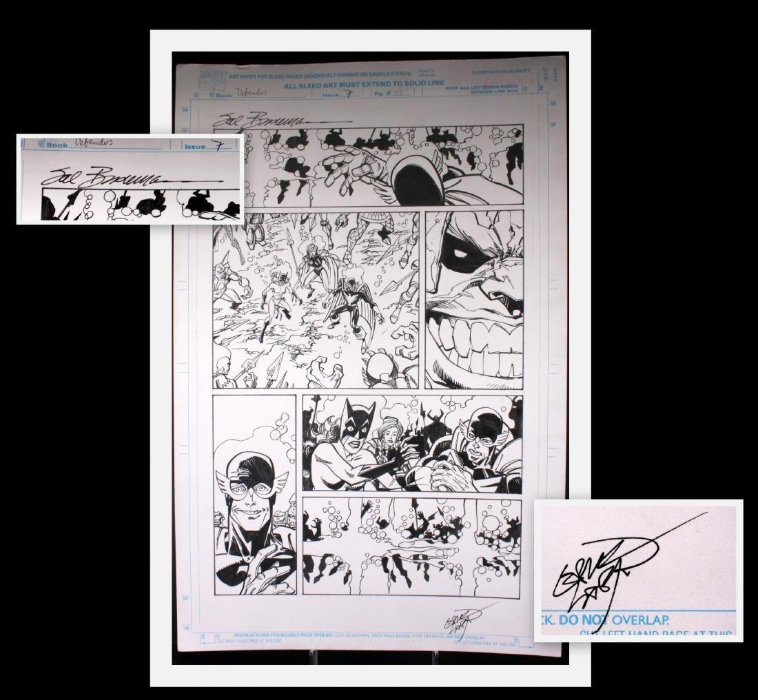 Sal Buscema Original Defenders Comic Book Art