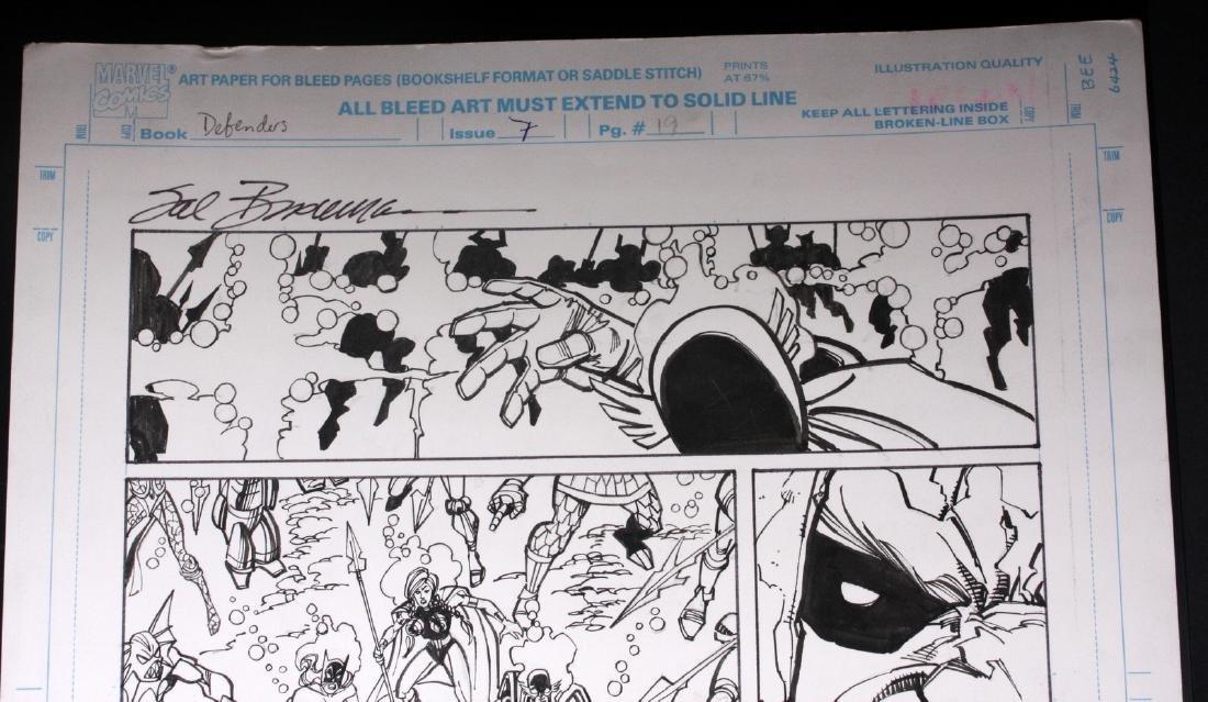 Sal Buscema Original Defenders Comic Book Art - 3
