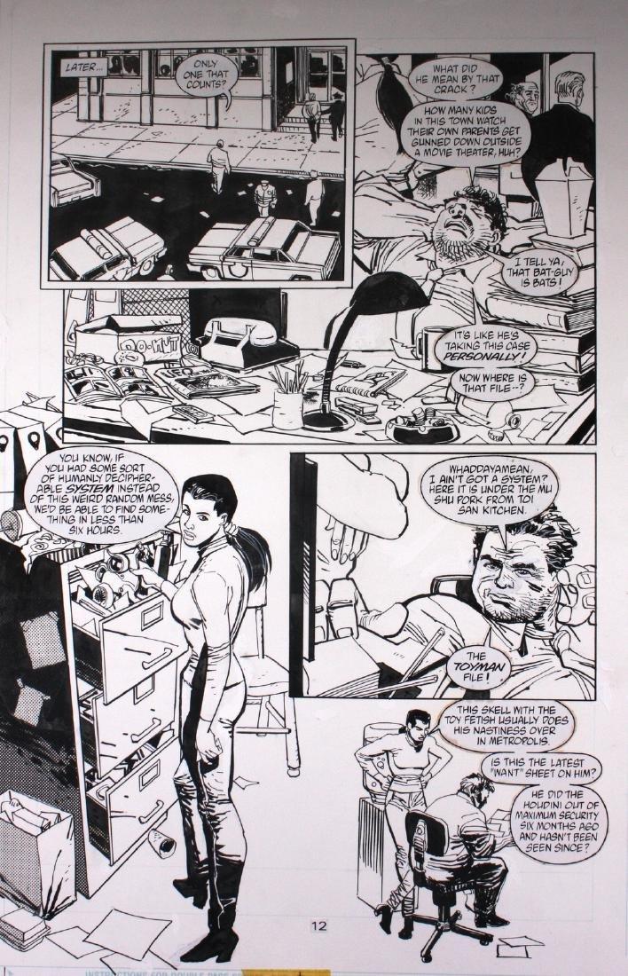 Anthony Williams Batman Toyman Original Comic Art
