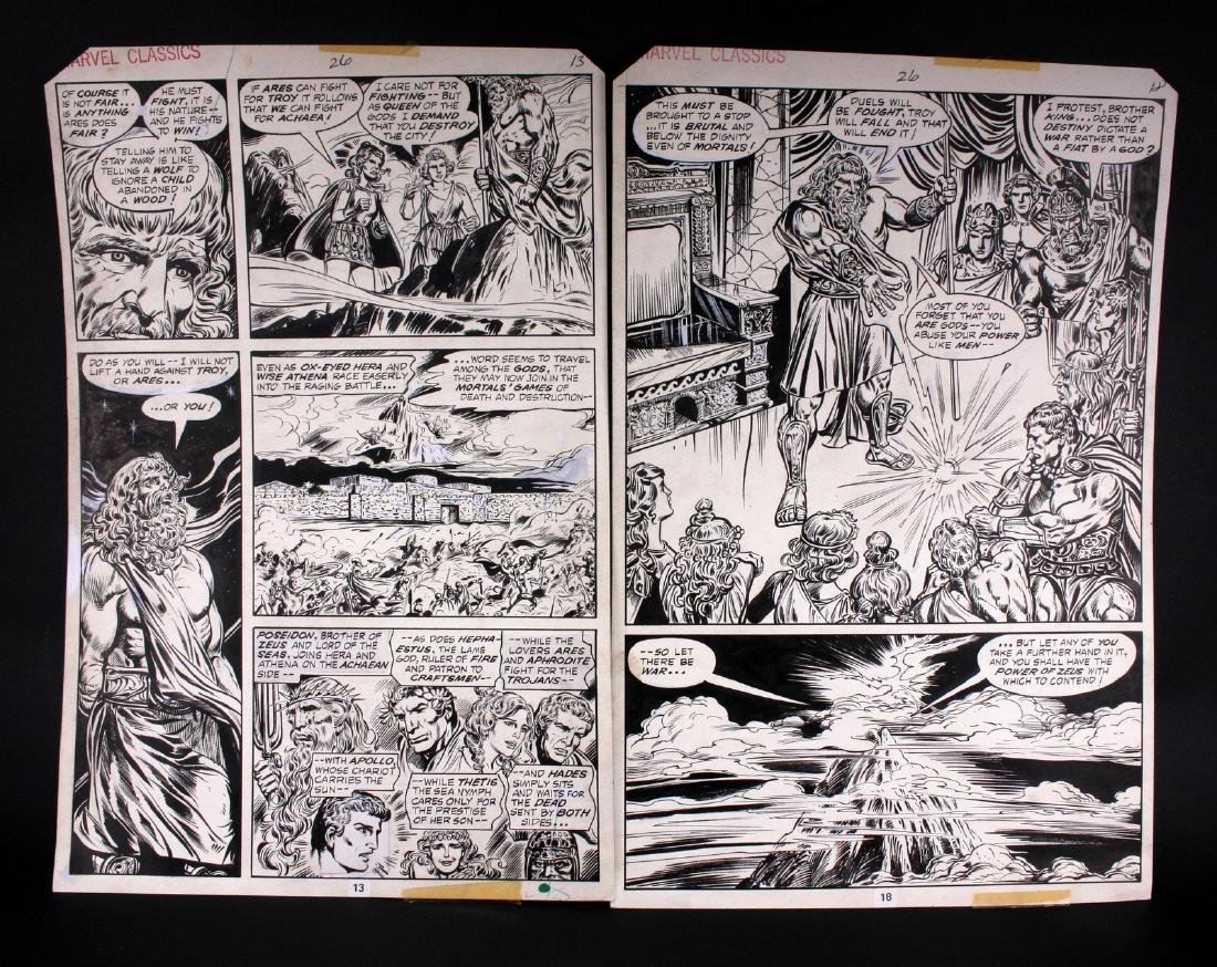 John Buscema The Iliad Original Comic Art