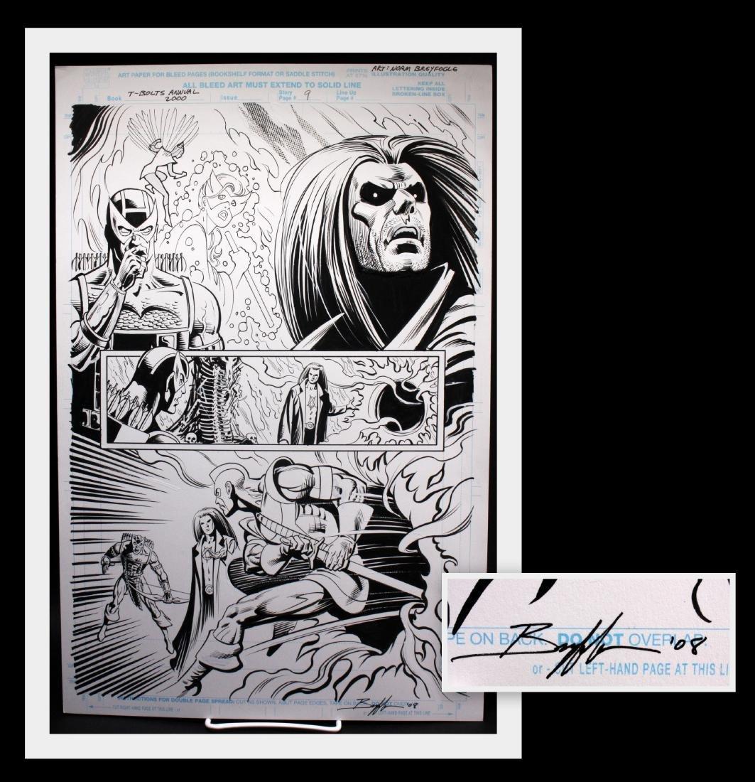 Norm Breyfogle T-Bolts Signed Original Comic Art