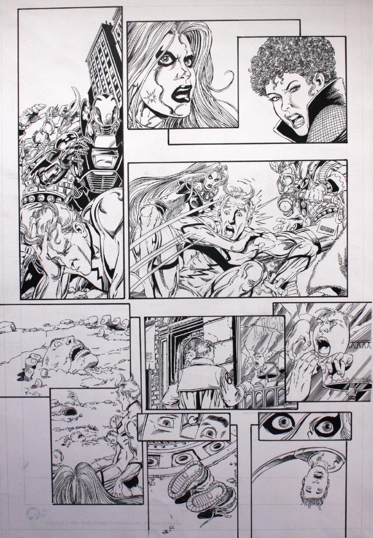 Perez & Vey Avengers Ultraforce Original Comic Art