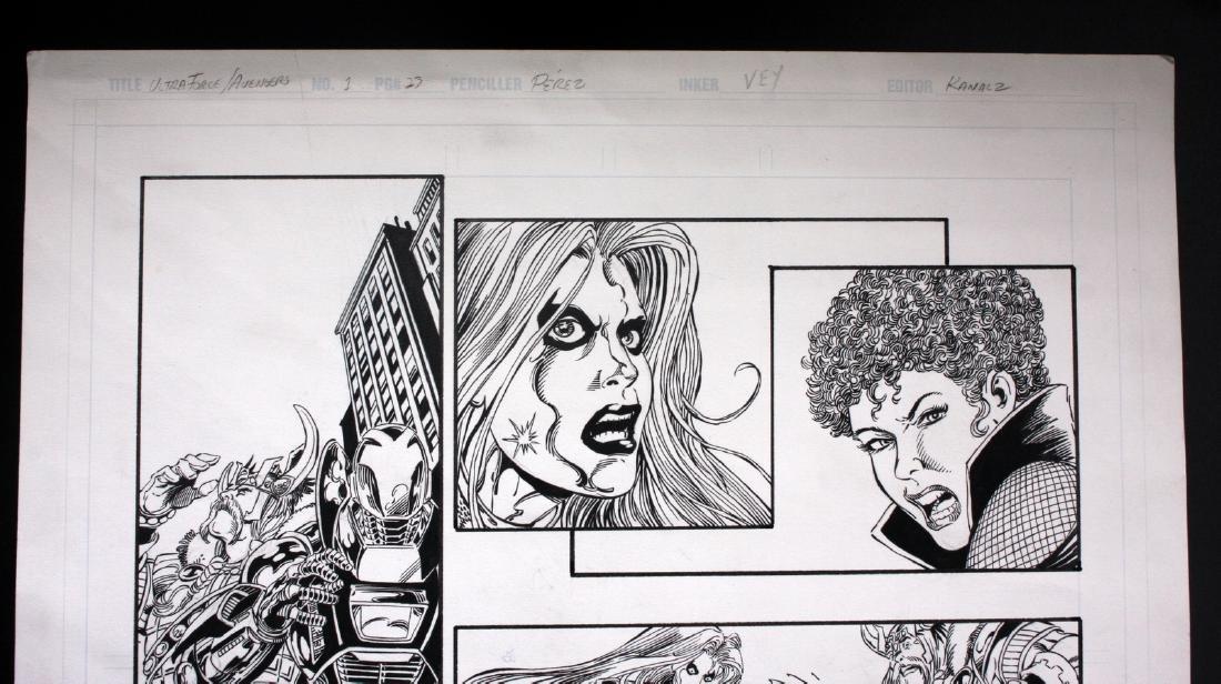 Perez & Vey Avengers Ultraforce Original Comic Art - 2