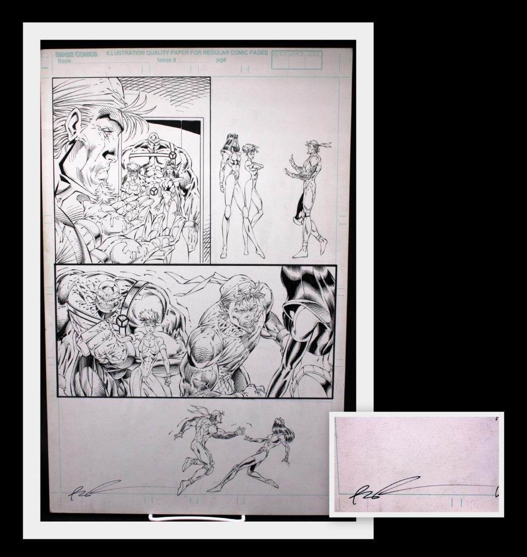 Rob Liefeld Youngblood Signed Original Comic Art