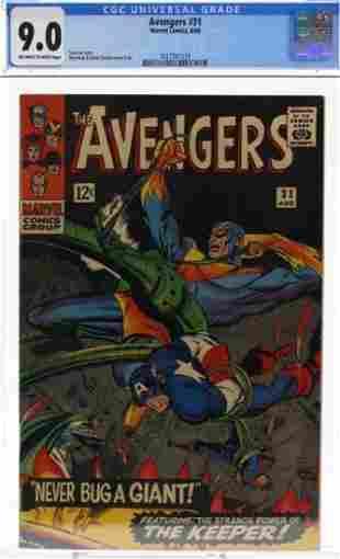 Avengers #31 CGC Graded Stan Lee Book