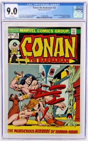 Conan The Barbarian #25 CGC 9.0 Graded Book