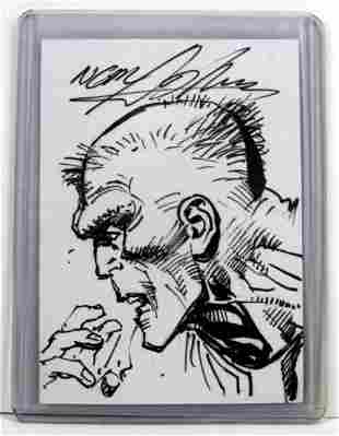 Neal Adams Signed Deadman Sketch Card