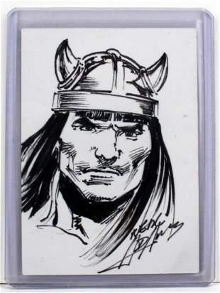 Neal Adams Signed Conan Sketch Card