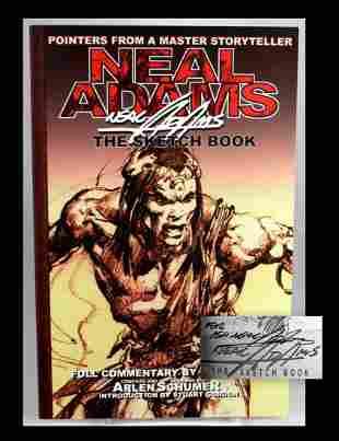 Neal Adams Signed Comic Sketchbook