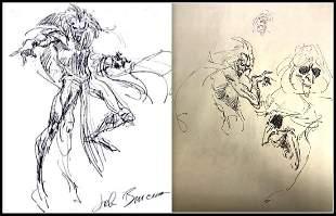 John Buscema Signed Original Mephisto Sketches
