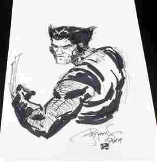 Peter Steigerwald Signed Wolverine Sketch