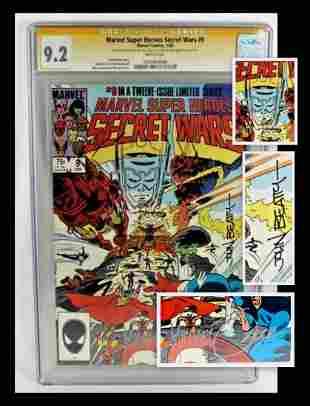 Secret Wars #9 CGC Signed Comic Book + Sketch