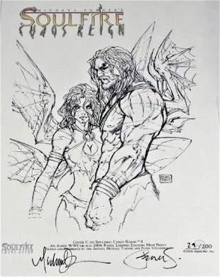Turner & Steigerwald Signed Soulfire Comic Print