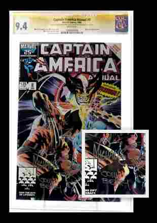 Captain America Ann. #8  Signed CGC Book + Sketch