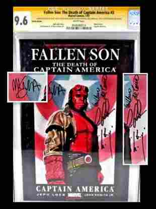 Fallen Son #3 Signed Sketched CGC Comic Book