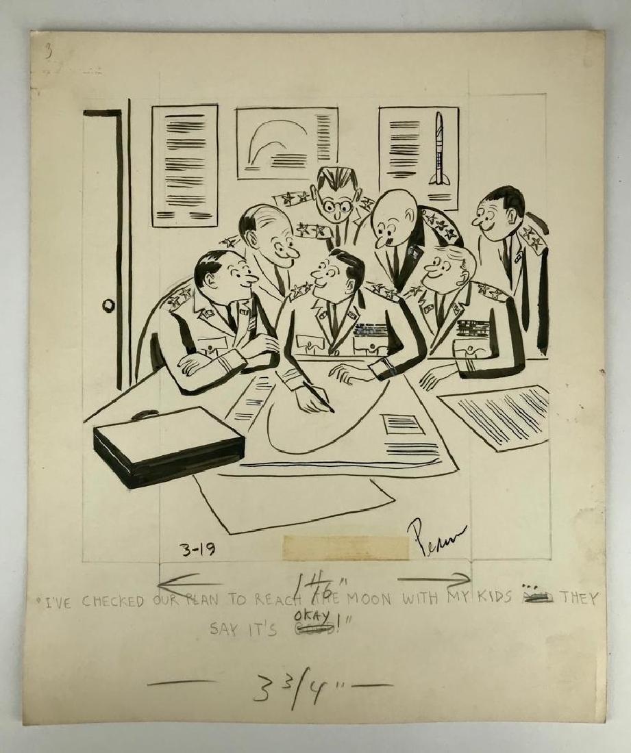 Charles Pearson Signed Original Cartoon Art