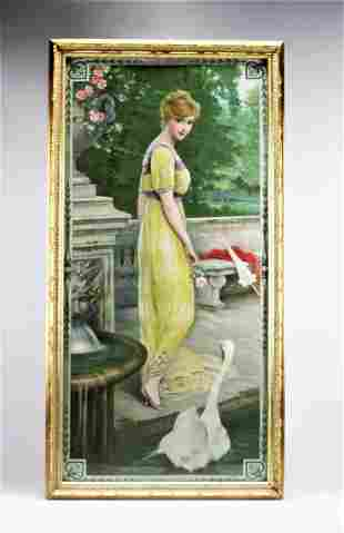 F. Champenois Illustration Art On Fabric, L. Rossi