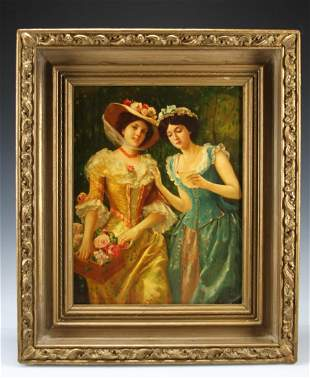Victorian Painting On Plaque By W. Margetsen
