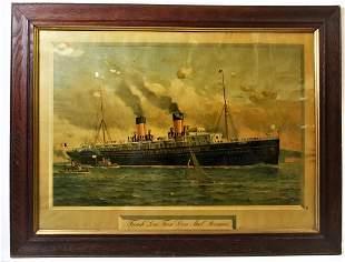 Original Fred Pansing French Steamship Litho