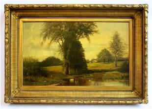 Antique 19th C. Clinton Loveridge Oil on Canvas
