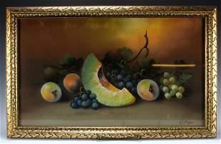 Signed Pastel Watercolor Fruit: Albert Glatthaar