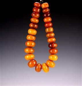 Vintage Bakelite Butterscotch Amber Bead Necklace