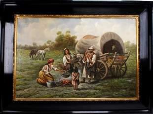 Adolf Baumgartner Stoiloff Oil Painting