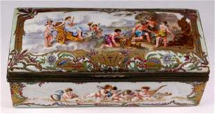 Antique Hand Painted French Porcelain Box