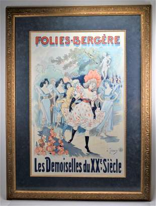 Folies Bergere French Advertising Poster