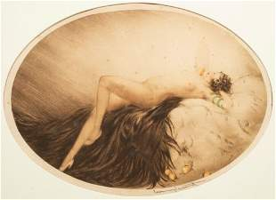 """Louis Icart """"Eve"""" Signed Etching"""