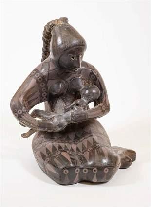 Max Kerlow Ceramic Folk Art Mother And Child