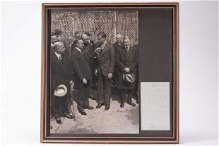 President Coolidge & Lindbergh Signed Photo w JSA