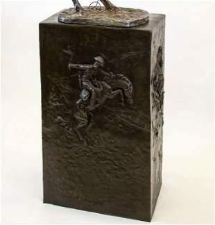 The Remington Pedestal by Nardini, Bronze