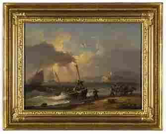 "Original Thomas Luny (1759 - 1837) ""Coming Ashore"""